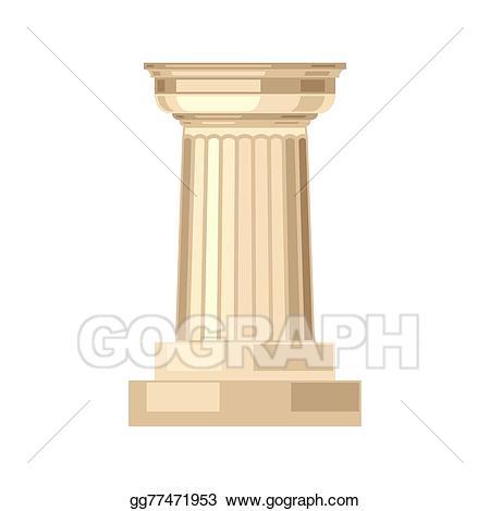 free download Column clipart marble column. Vector illustration doric realistic
