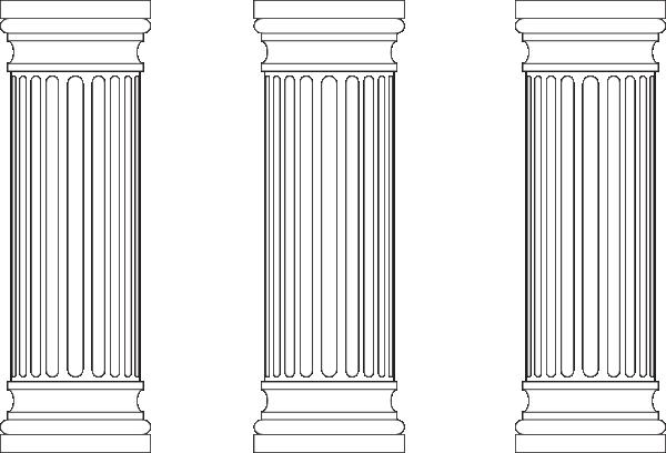 picture Column clipart marble column. Three columns clip art