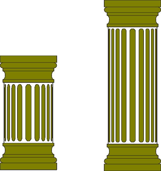 graphic black and white Column clipart marble column. Pillar clip art at