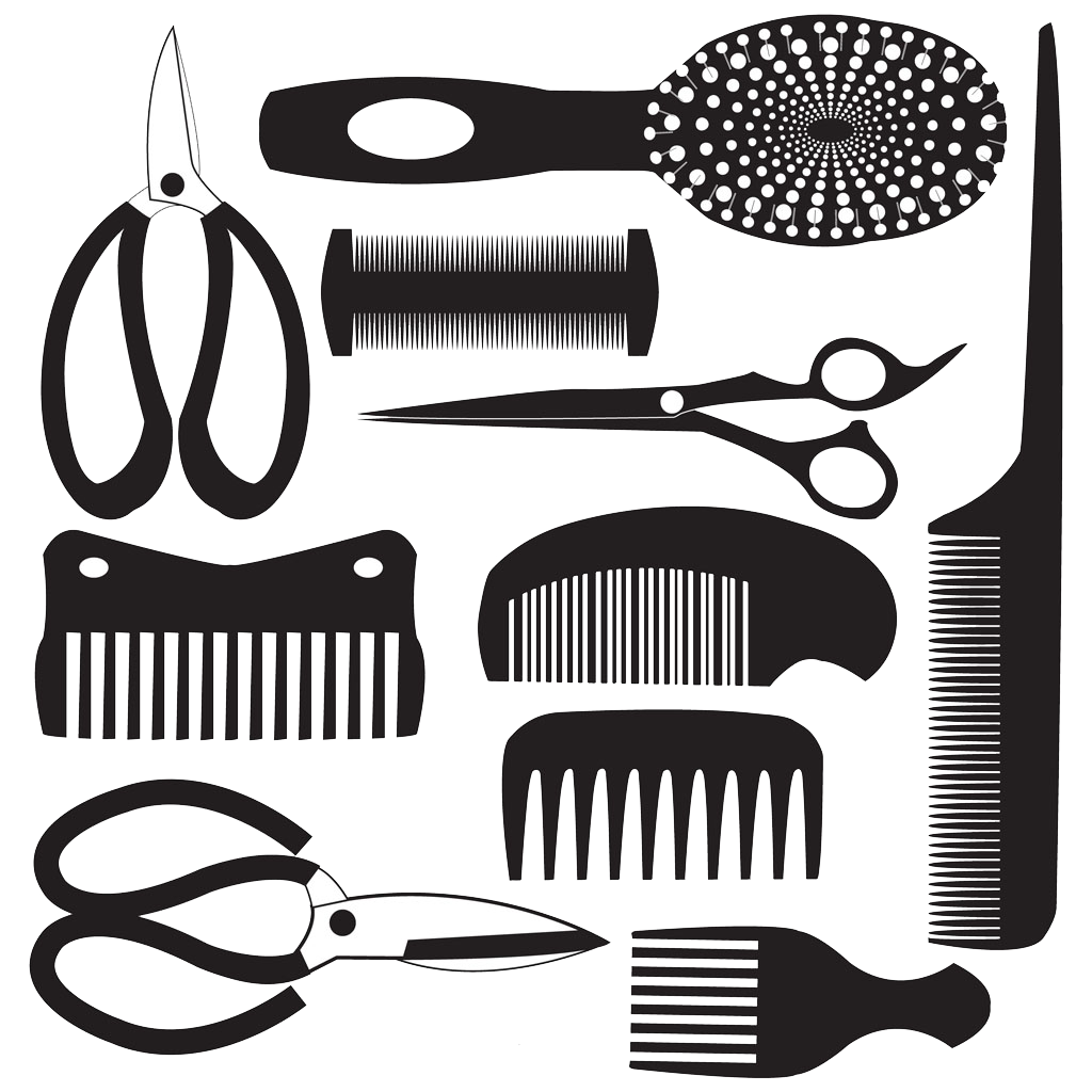 jpg library stock Comb royalty free clip. Hairdresser clipart brush hair