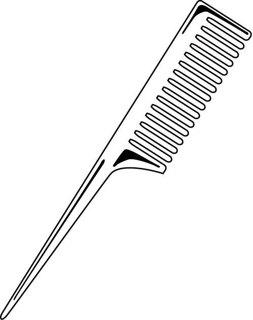clipart black and white stock Comb clip art graphics. Hair brush clipart black and white