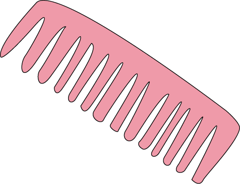 clip art black and white library Combs group pink hair. Hairbrush clipart suklay