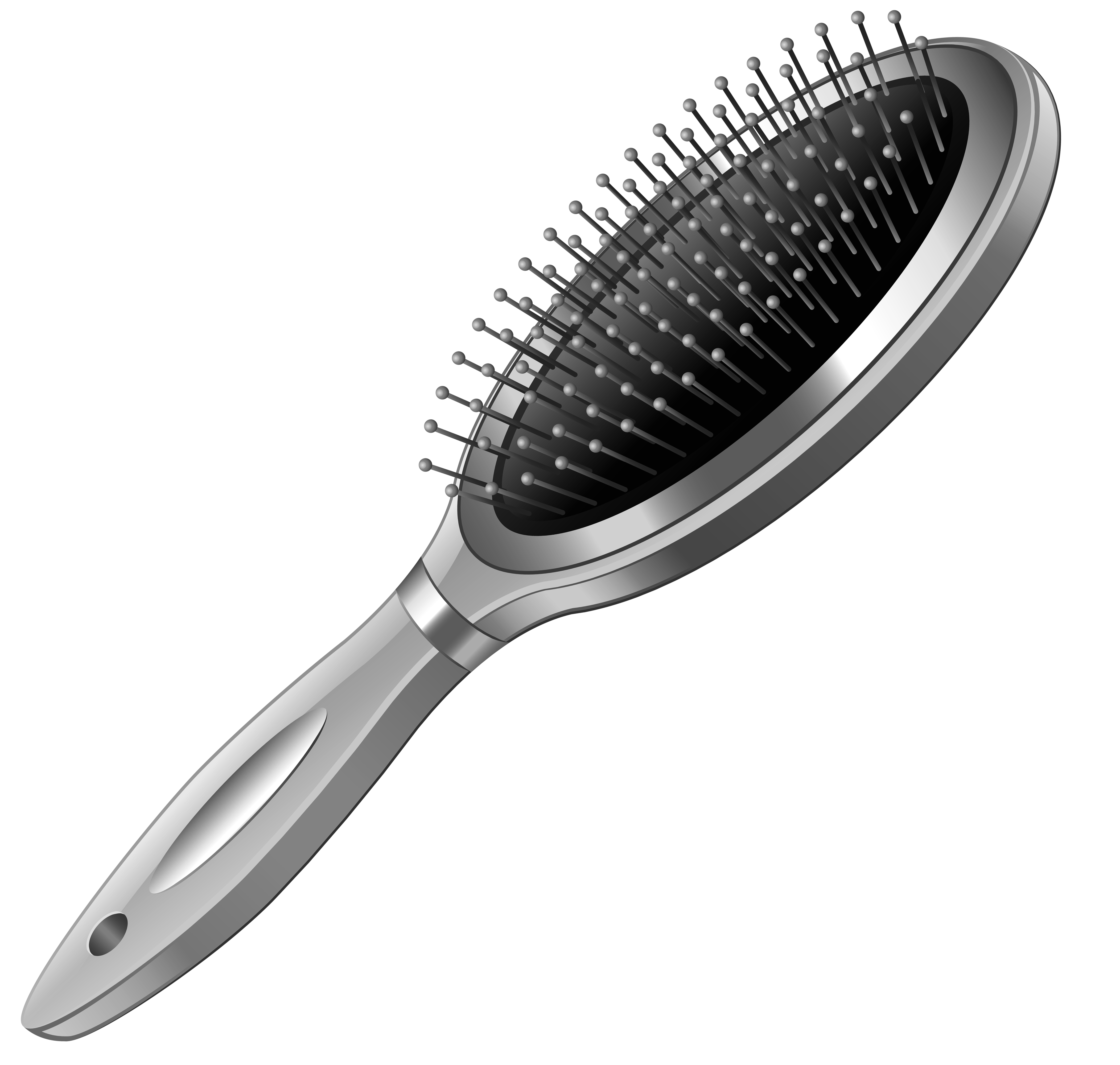 banner royalty free library Silver Hairbrush PNG Clipart Picture