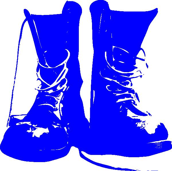 clip art freeuse Blue Combat Boots Clip Art at Clker