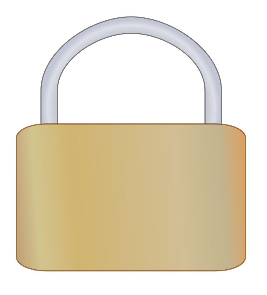 free library Combination Lock Blank Clipart