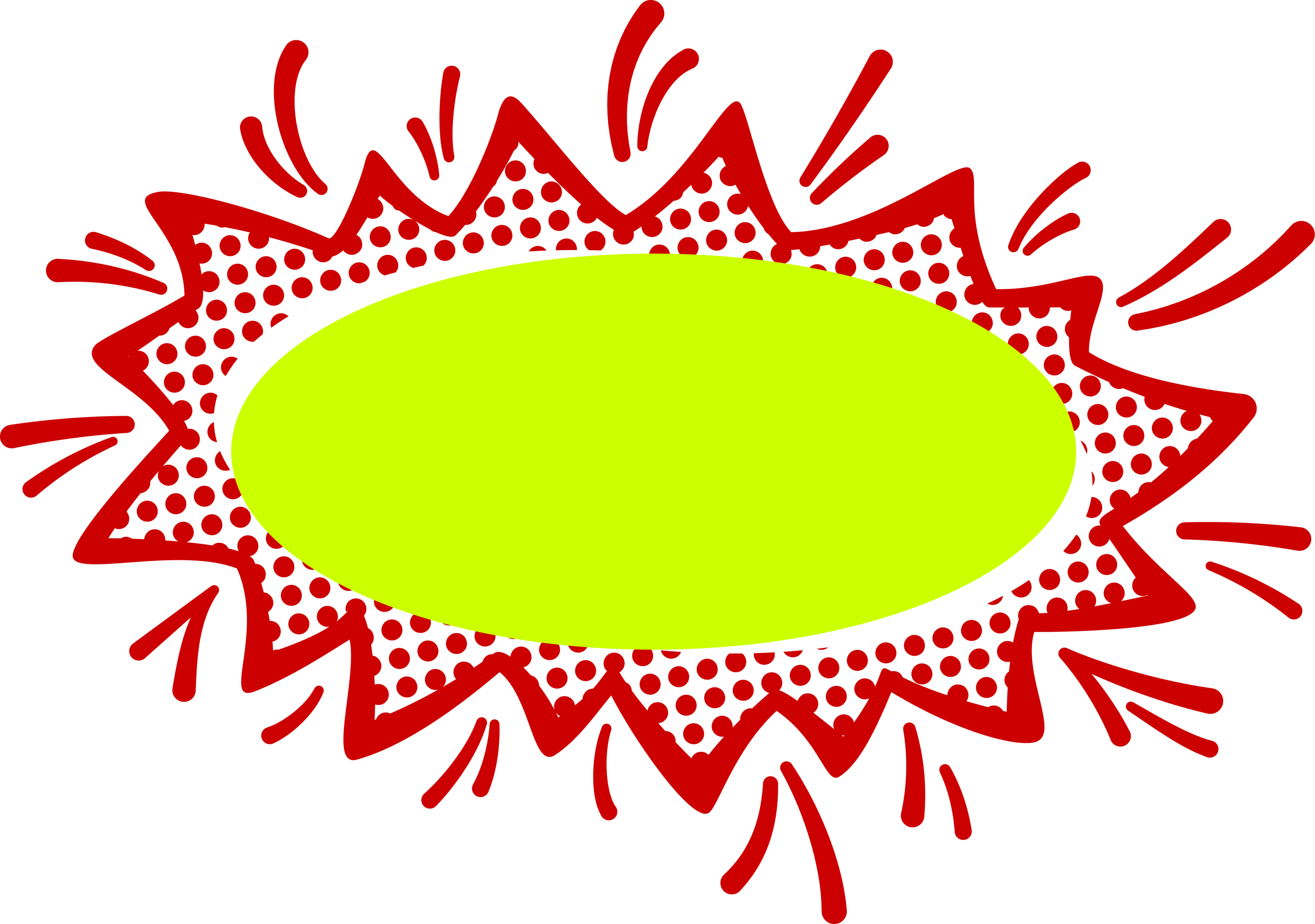banner free Red and lime empty. Comic clipart.