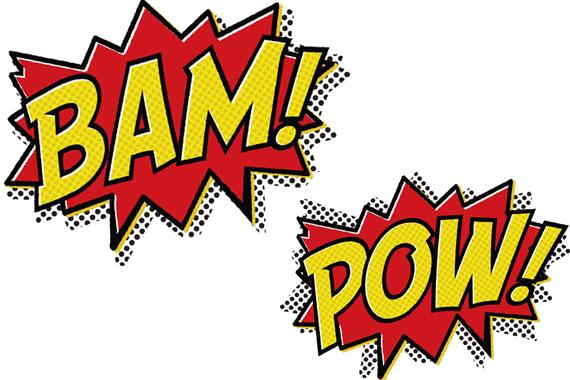 graphic free download Pow transparent. Bam cartoon message text