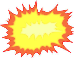clipart freeuse library Comic clipart blast. Explosion clip art at