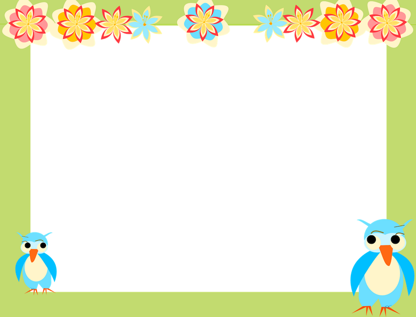 image free Clipart borders and frame. Frames clip art owl.