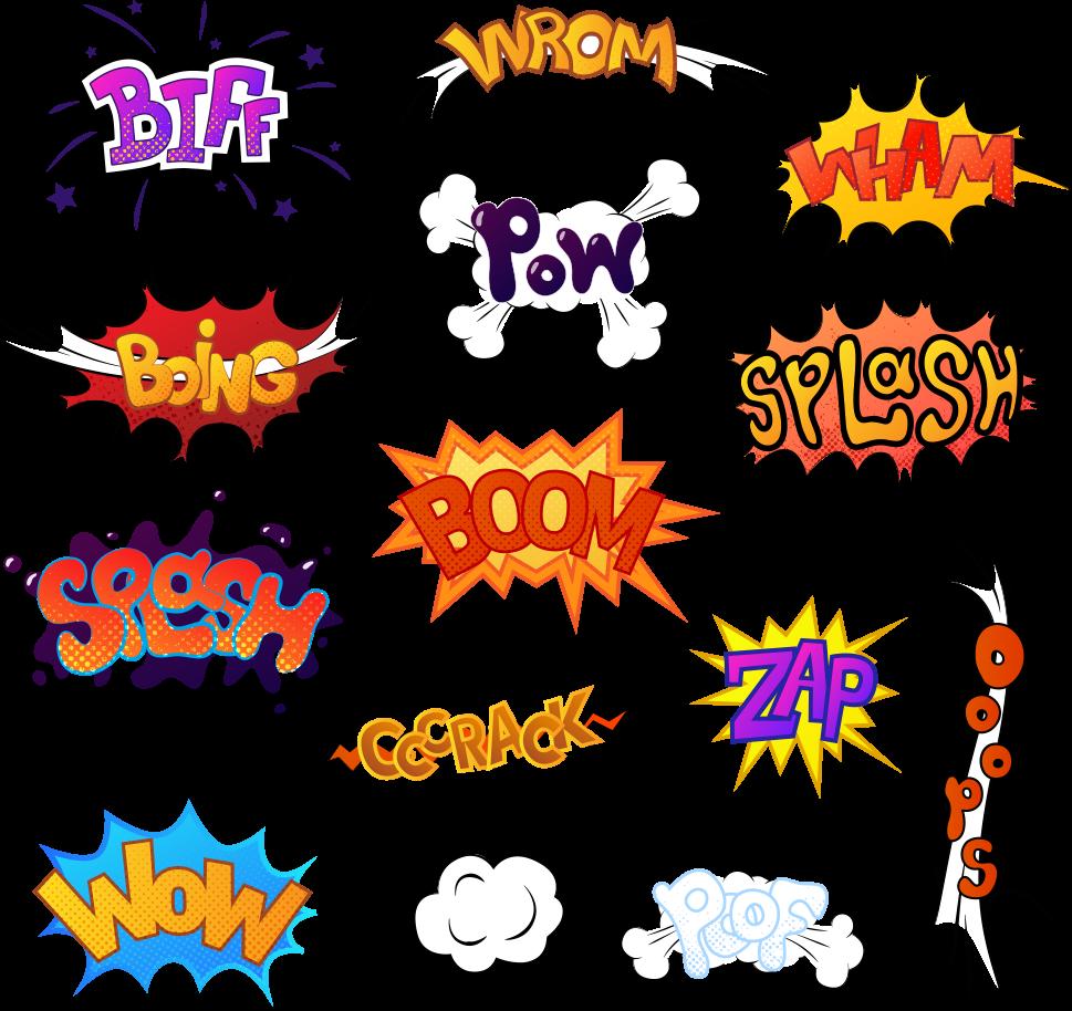 image library stock Sound comics cartoon illustration. Comic vector
