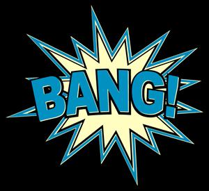 svg transparent library Comic vector. Bang book exclamation logo