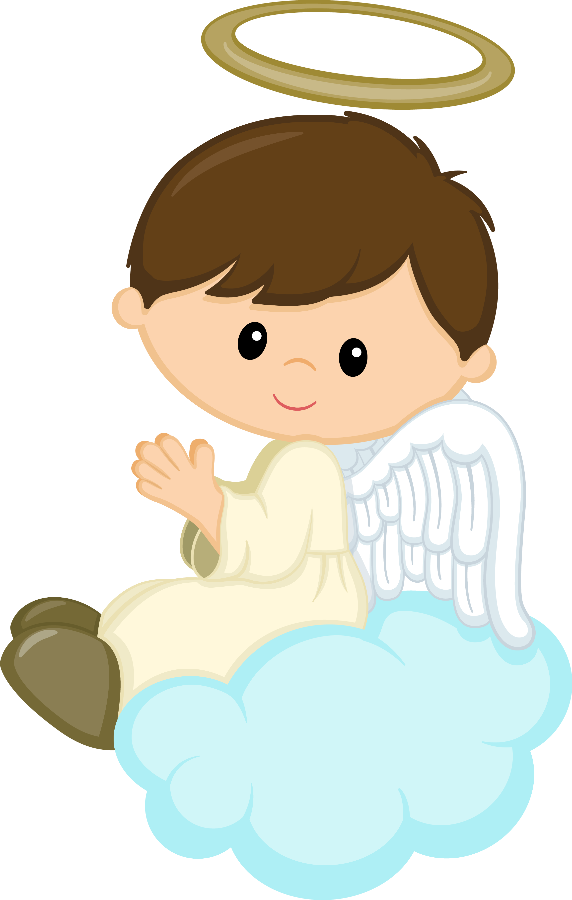 picture black and white stock Vector angel baptism. Minus say hello cumples