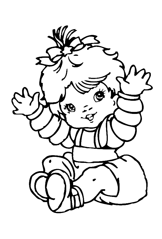 clip art free library Baby girl coloring pages. Drawing printables cute