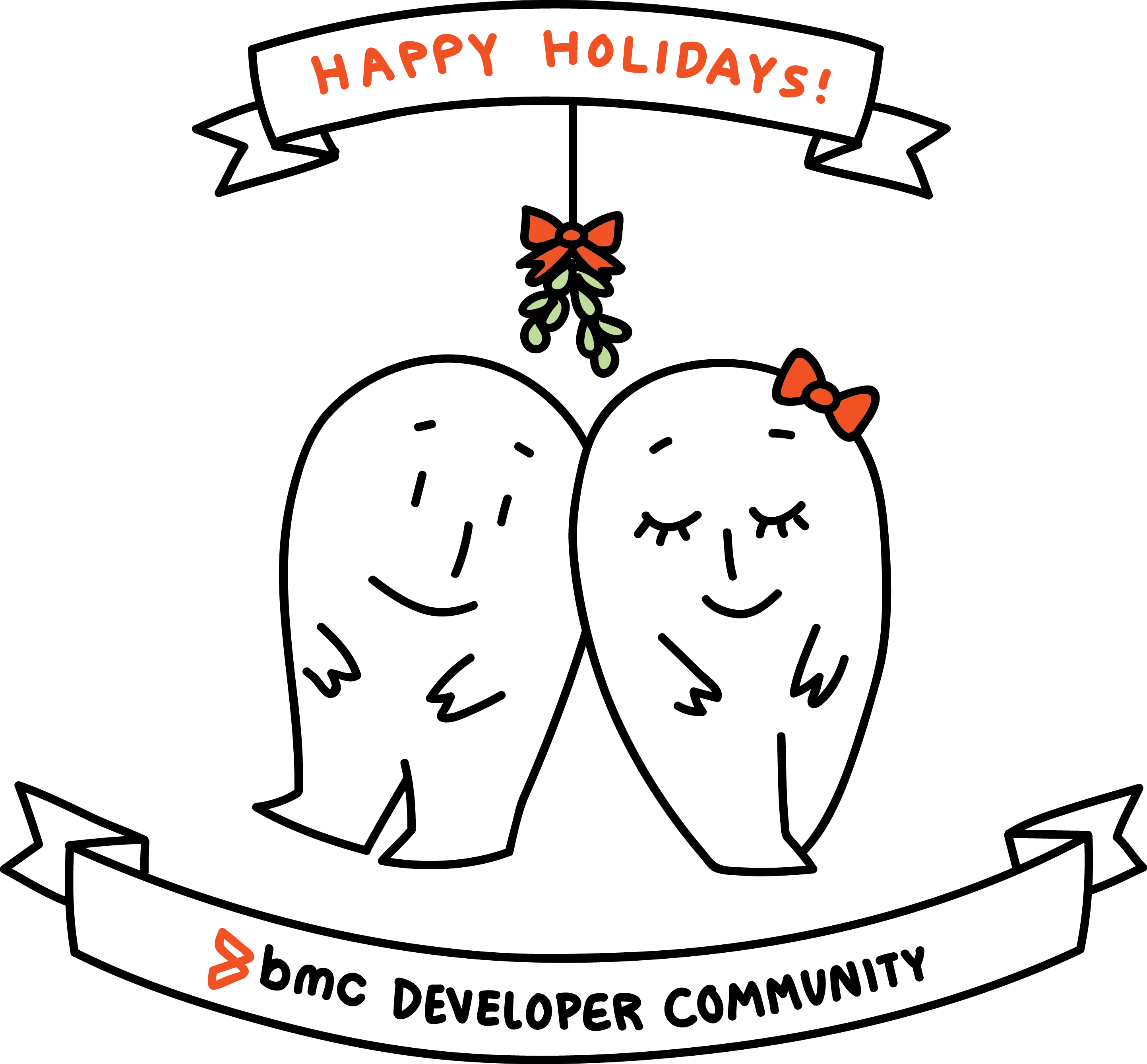 png black and white stock Happy Holidays to our Developer Community