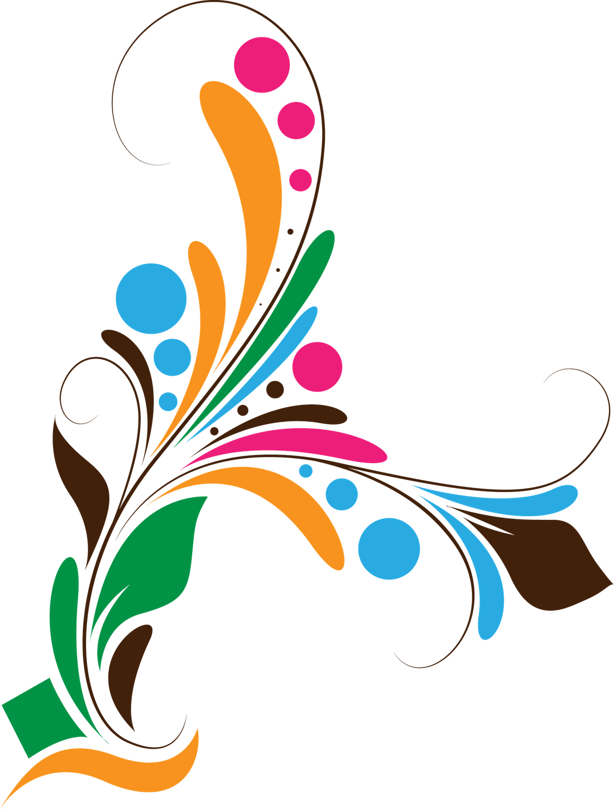 vector stock Floral design png backgrounds. Vector defintion graphic designer