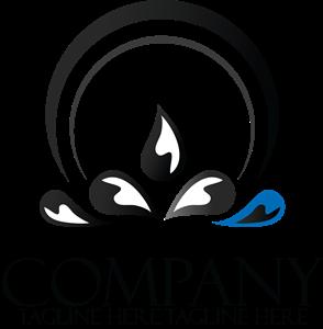 vector stock Company creative black and white Logo Vector