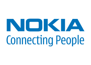 png black and white Nokia connecting people Logo Vector