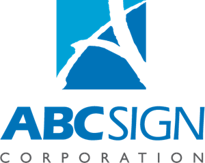 graphic black and white download ABC Sign Corporation Logo Vector