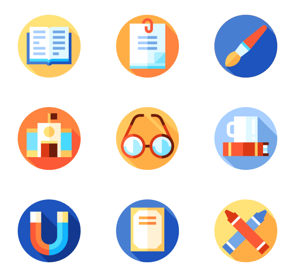 image free School material Icons
