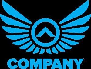 picture transparent library Vector emblem wing. Company logo vectors free