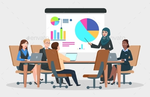 svg library stock Vector business meeting.