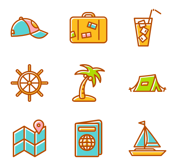 image transparent stock Summer Icons