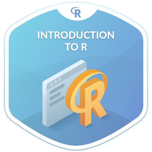 svg freeuse stock Vector computer course. Free introduction to r