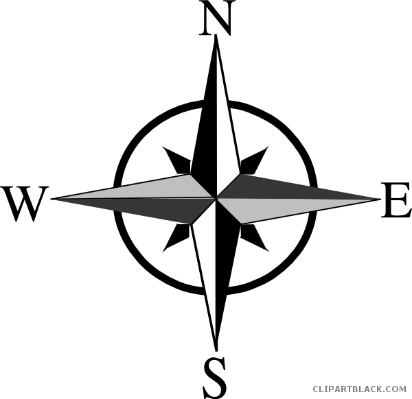 graphic free Compass clipart. North east south west