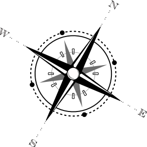 picture freeuse library Black And White Compass Clip Art at Clker