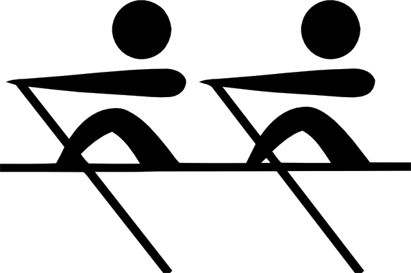 image black and white stock Rowing Competition Clipart