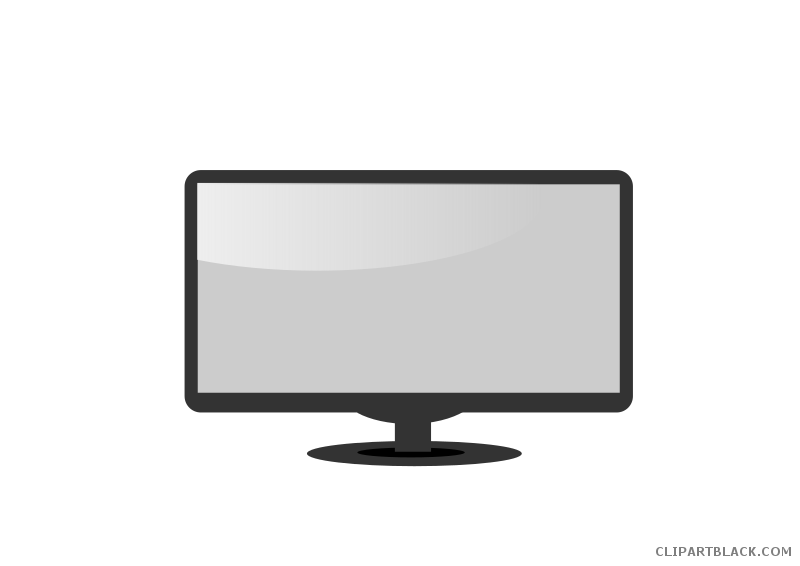 clipart stock Computer black and white clipart. Monitor clipartblack com tools