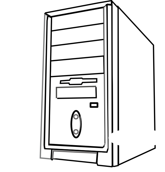 clip art freeuse download Cpu png transparent clip. Computer black and white clipart