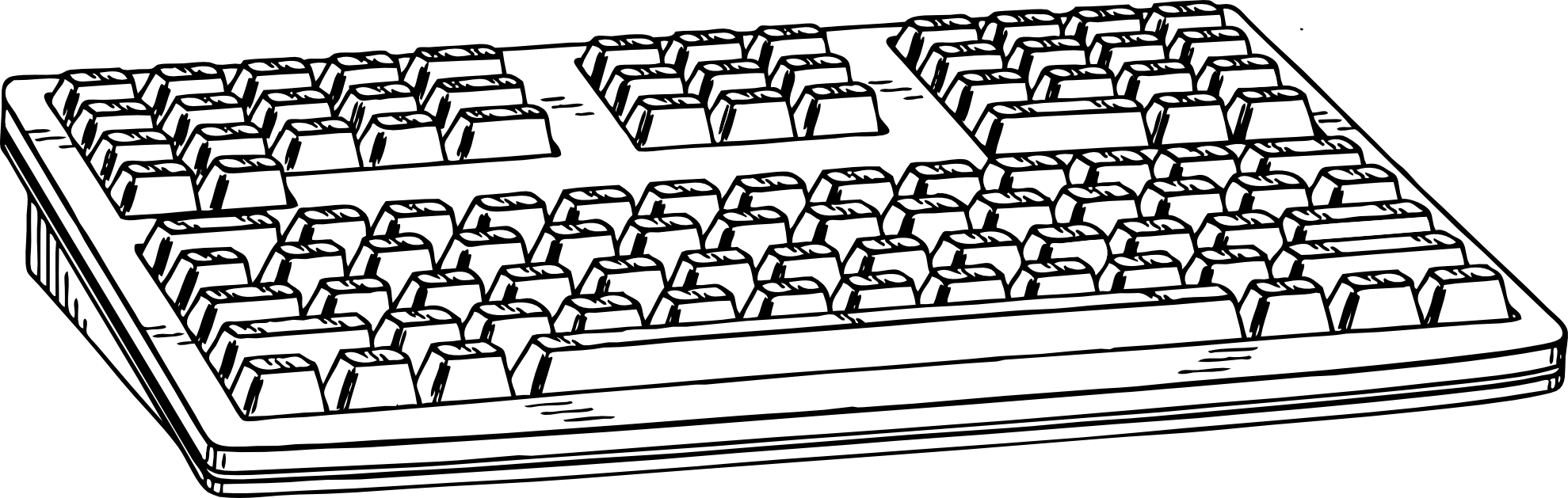 clipart transparent stock Computer keyboard clipart black and white.  collection of high