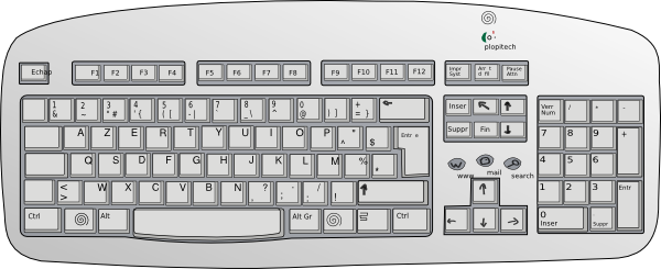 vector freeuse Jims clip art at. Computer keyboard clipart black and white