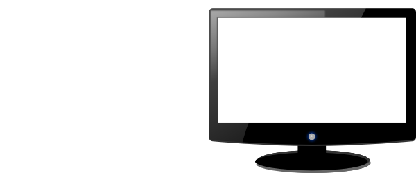 png black and white stock Computer Monitor Clip Art at Clker
