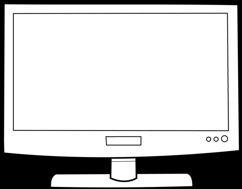 vector royalty free computer monitor clipart computer monitor clipart black and white