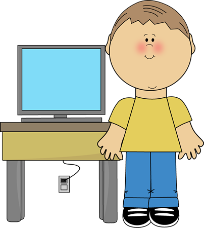 picture black and white library Boy classroom computer technology. Writer clipart quietly