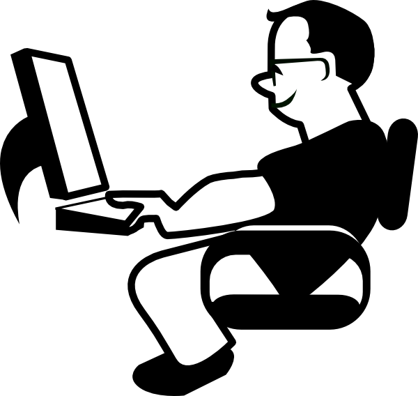 jpg royalty free library Image of IT Computer Clipart Black and White