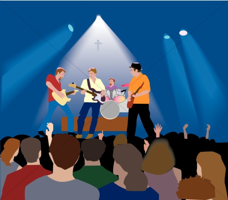 banner free stock Concert clipart. Christian rock with lighting