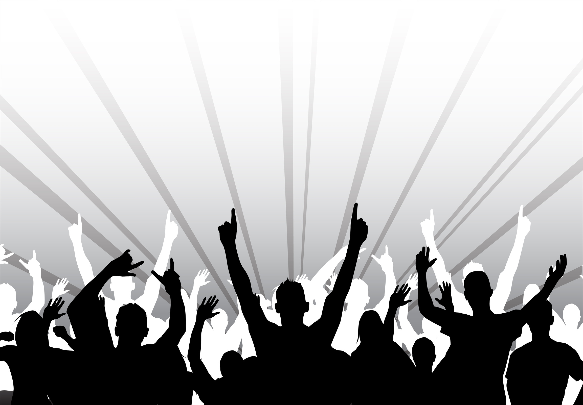 picture free stock Beautiful crowd clip art. Concert clipart