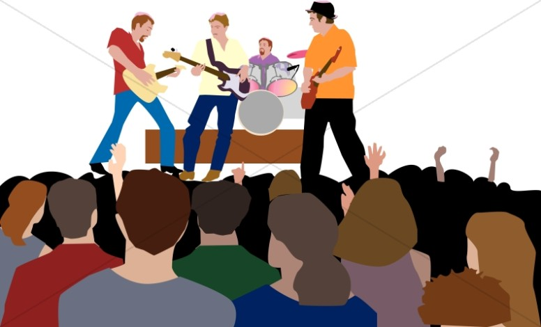 picture library download Youth rock worship . Concert clipart