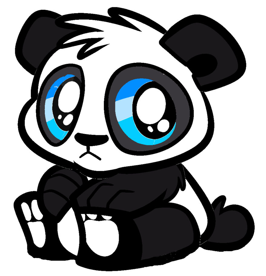 png freeuse library Cute Panda Bear Art