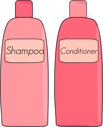 banner royalty free stock Shampoo and Conditioner