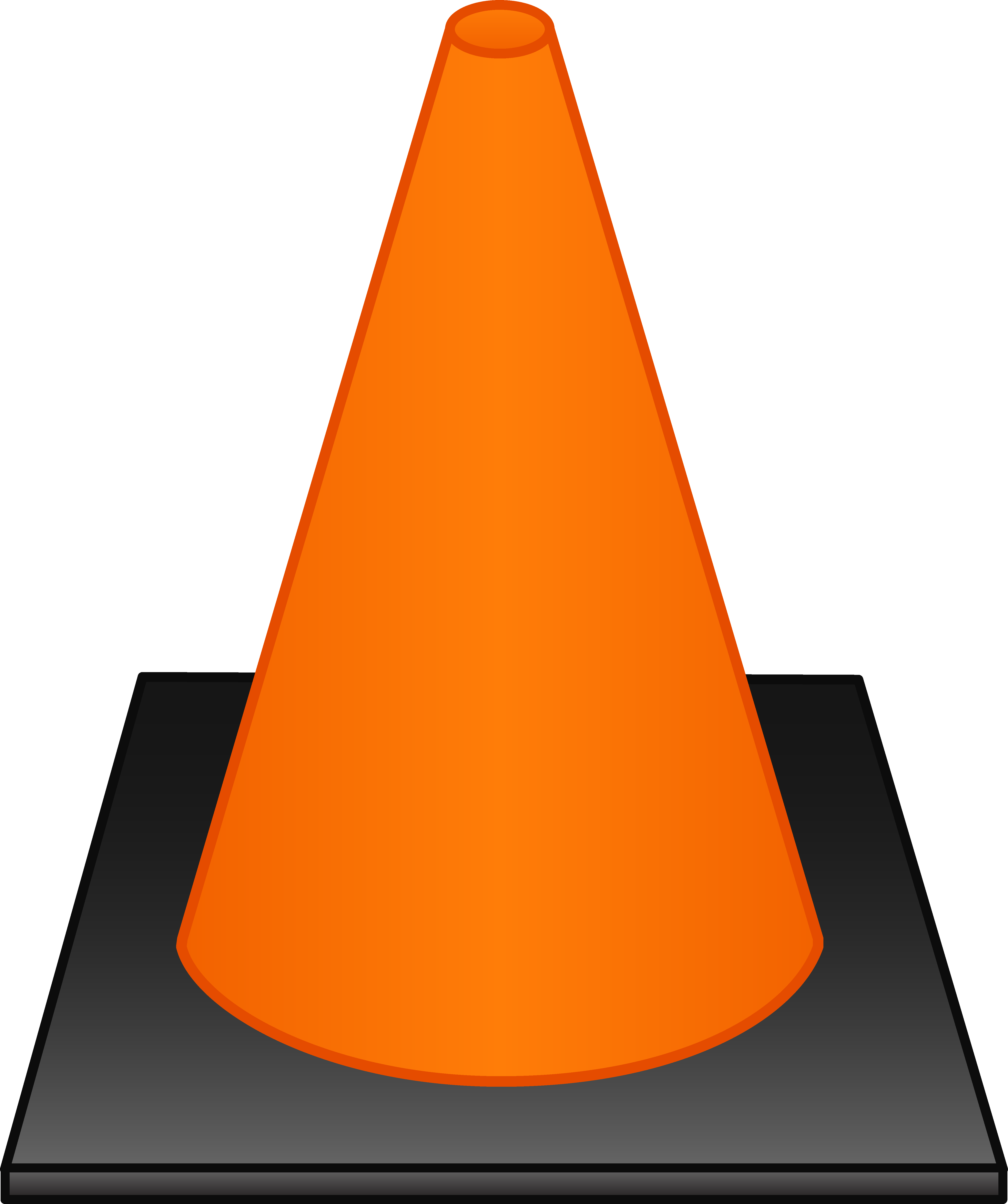 vector black and white stock Safety . Cone clipart.