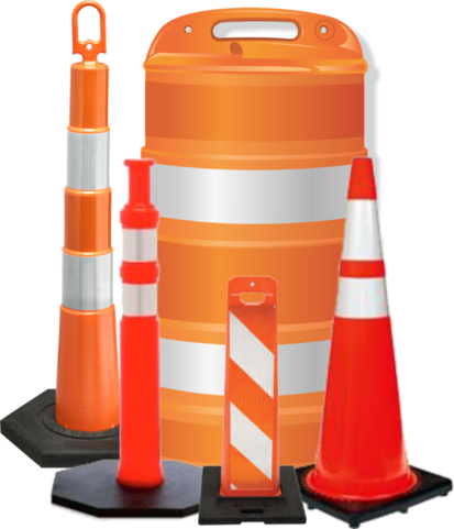 banner transparent stock Cone clipart barrel. Barrelmover construction safety official.