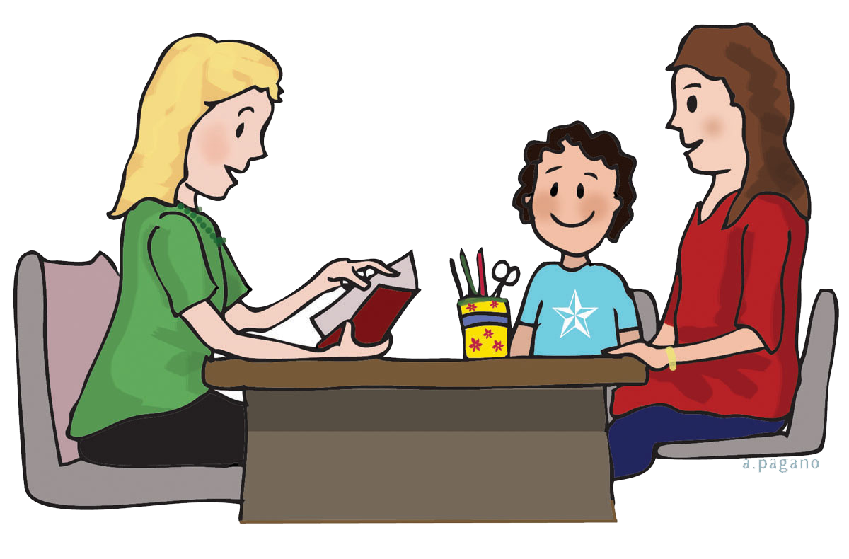black and white library Conference clipart parent education. Parents school communication monday