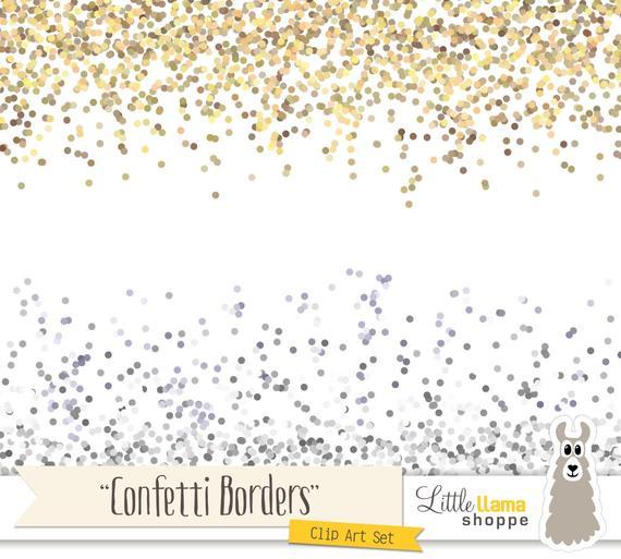 jpg free library Confetti border clipart. Clip art gold glitter