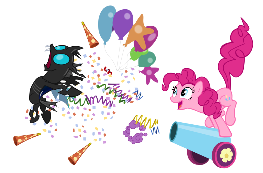 banner transparent download Pinkie pie party by. Vector cannon traditional