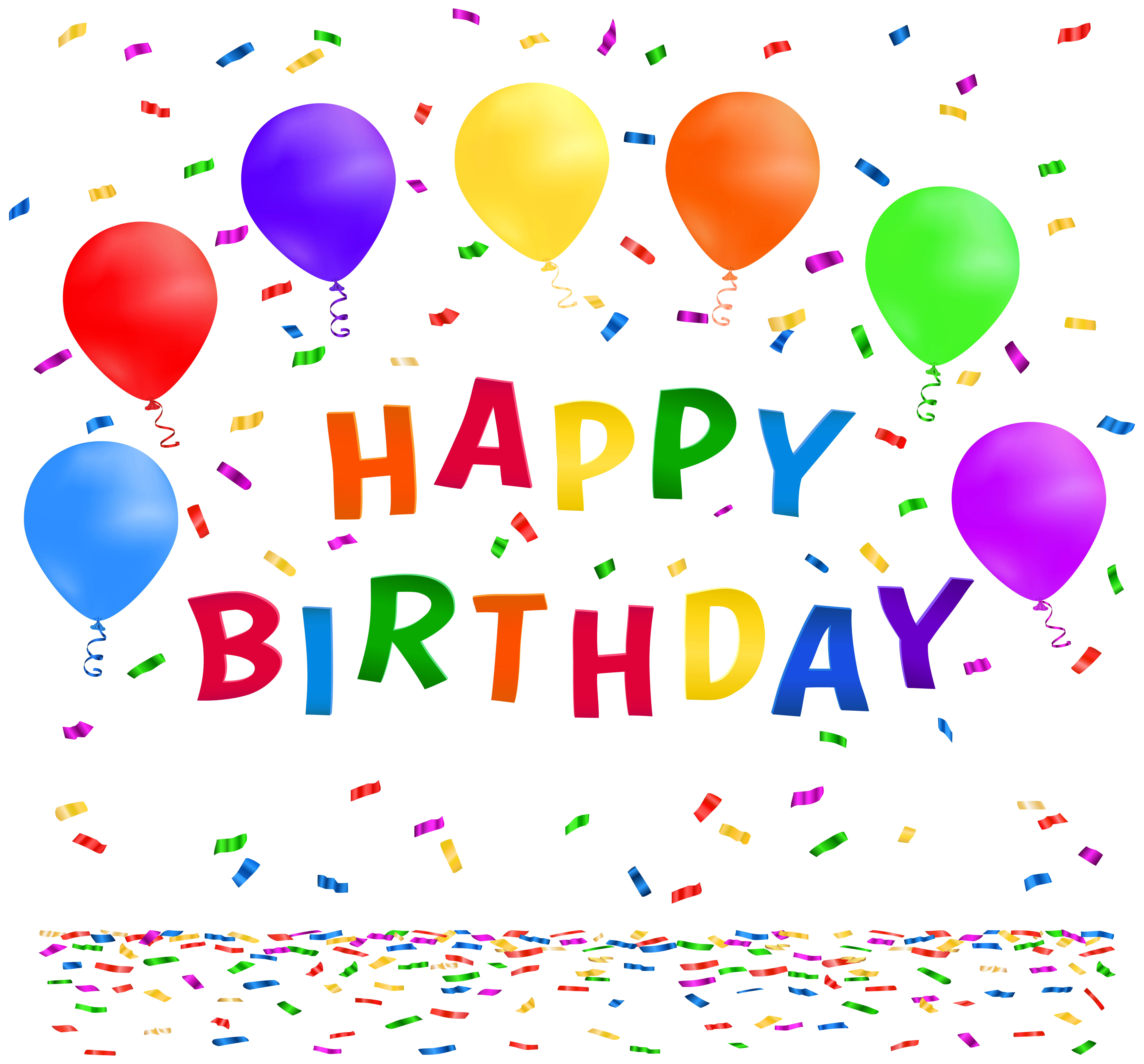 jpg freeuse stock Free clipart happy birthday. With confetti png clip
