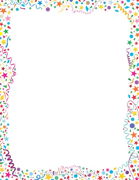 clip free Confetti clipart border. Clip art page and